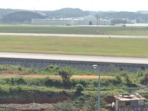 道の駅かでなの展望台から見た安保の丘