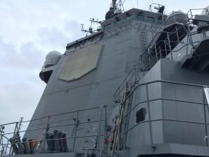 護衛艦みょうこうのSPY-1レーダー